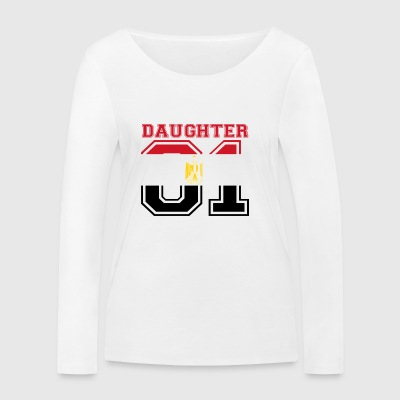 Daughter daughter queen 01 Egypt - Women's Organic Longsleeve Shirt by Stanley & Stella