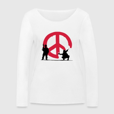 peace not war - Women's Organic Longsleeve Shirt by Stanley & Stella