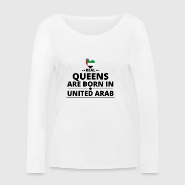 GIFT QUEENS LOVE FROM UNITED ARAB EMIRATES - Women's Organic Longsleeve Shirt by Stanley & Stella