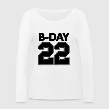 22nd birthday bday 22 number numbers jersey number - Women's Organic Longsleeve Shirt by Stanley & Stella