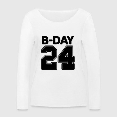 24 number number for the 24th birthday football jersey - Women's Organic Longsleeve Shirt by Stanley & Stella