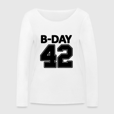 Number 42 / 42nd birthday number jersey number - Women's Organic Longsleeve Shirt by Stanley & Stella