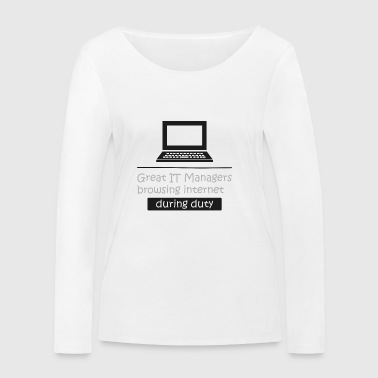 Responsable informatique IT intello informatique cadeau - T-shirt manches longues bio Stanley & Stella Femme