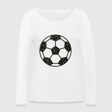 Football vintage black - Women's Organic Longsleeve Shirt by Stanley & Stella