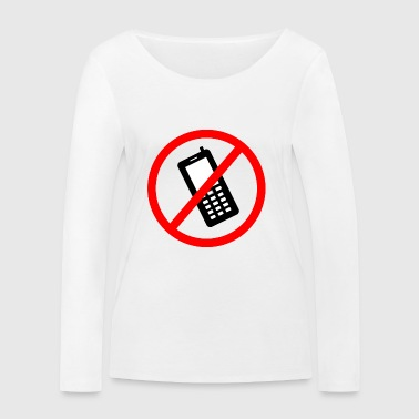 Cellphone prohibited - Women's Organic Longsleeve Shirt by Stanley & Stella