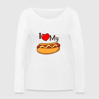 Hot dog shirt - Women's Organic Longsleeve Shirt by Stanley & Stella