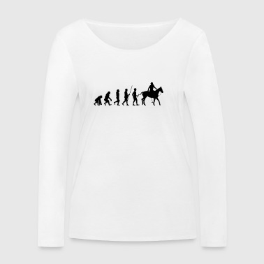 Evolution to the rider T-shirt gift - Women's Organic Longsleeve Shirt by Stanley & Stella
