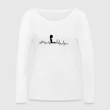 Heartbeat PC Scientist T-Shirt Gift - Women's Organic Longsleeve Shirt by Stanley & Stella