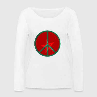 PEACE and LOVE MOROCCO - Women's Organic Longsleeve Shirt by Stanley & Stella