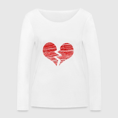 The broken heart - Women's Organic Longsleeve Shirt by Stanley & Stella