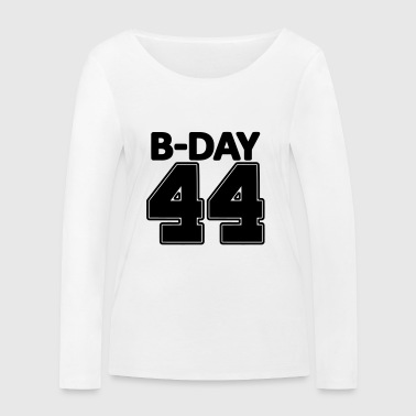 44 years number number 44th birthday numbers jersey - Women's Organic Longsleeve Shirt by Stanley & Stella