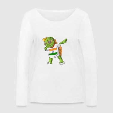 Inde tortue tamponnant - T-shirt manches longues bio Stanley & Stella Femme