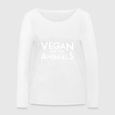 VEGAN FOR THE ANIMALS white - Women's Organic Longsleeve Shirt by Stanley & Stella