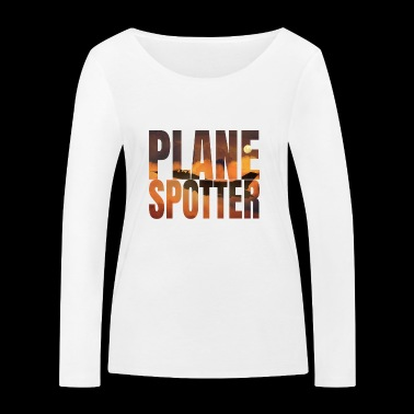 Avion Spotter photo Design Jet de combat Jet - T-shirt manches longues bio Stanley & Stella Femme