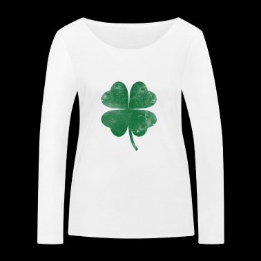 Four leaf clover gift Ireland - Women's Organic Longsleeve Shirt by Stanley & Stella