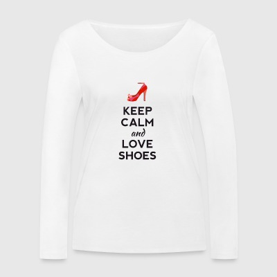 keep calm love shoes shoes high heels sexy heel - Women's Organic Longsleeve Shirt by Stanley & Stella