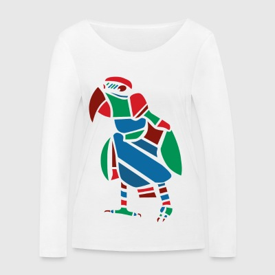 Parrot Vector graphic - Women's Organic Longsleeve Shirt by Stanley & Stella