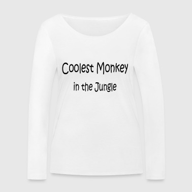 Limitiert - Coolest Monkey in the Jungle - Frauen Bio-Langarmshirt von Stanley & Stella