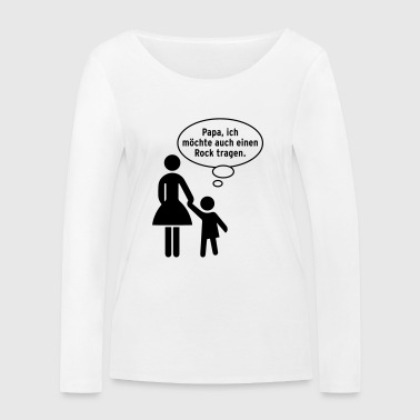 Papa child skirt dress Verkehrschild Gay Kindermund - Women's Organic Longsleeve Shirt by Stanley & Stella