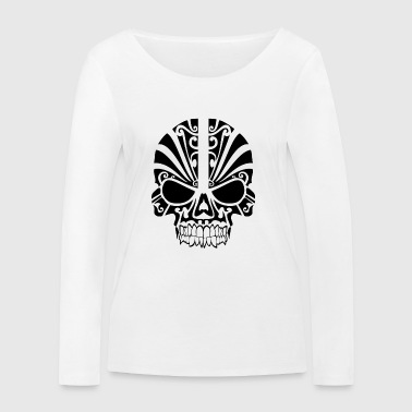 Skull with pattern - Women's Organic Longsleeve Shirt by Stanley & Stella