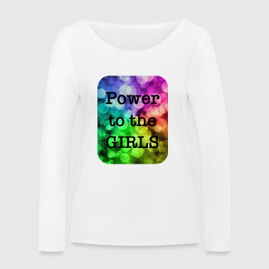Power to the girls rainbow rainbow colors - Women's Organic Longsleeve Shirt by Stanley & Stella