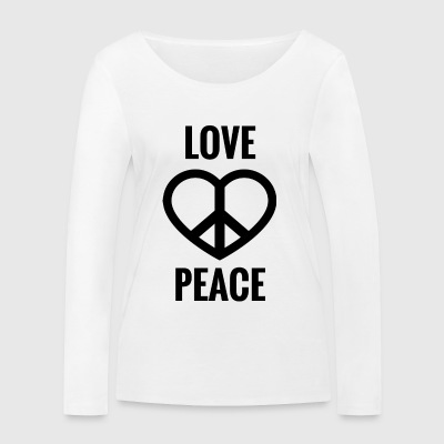 LOVE AND PEACE - Frauen Bio-Langarmshirt von Stanley & Stella