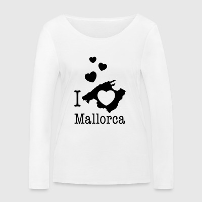love Mallorca Balearic Islands Spain holiday island holiday - Women's Organic Longsleeve Shirt by Stanley & Stella