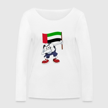 United Arab Emirates Dabbing football - Women's Organic Longsleeve Shirt by Stanley & Stella