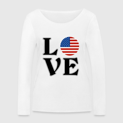 I love the USA - US adventure gift - Women's Organic Longsleeve Shirt by Stanley & Stella