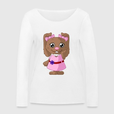 Cute cartoon bunny - Women's Organic Longsleeve Shirt by Stanley & Stella