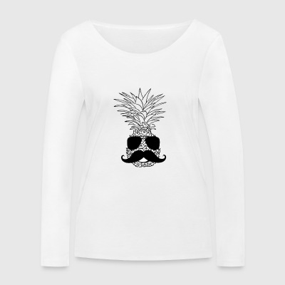 TRENDY PINEAPPLE STYLE PINEAPPLE WITH BEARD VEGAN - Women's Organic Longsleeve Shirt by Stanley & Stella