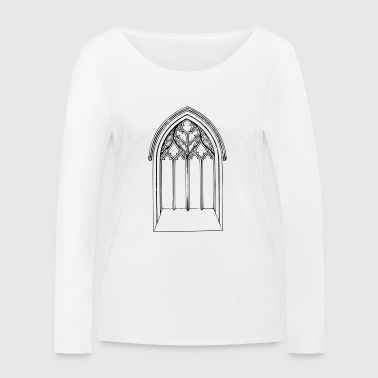 Church window - Women's Organic Longsleeve Shirt by Stanley & Stella