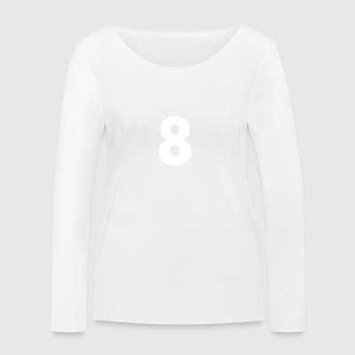 Zahl 8, Nummer 8, 8, eight, Number eight, Acht - Frauen Bio-Langarmshirt von Stanley & Stella