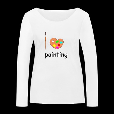 painting - Women's Organic Longsleeve Shirt by Stanley & Stella