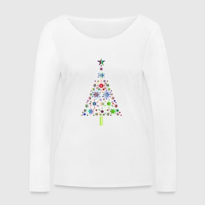 Snowflake star topped tree - Women's Organic Longsleeve Shirt by Stanley & Stella