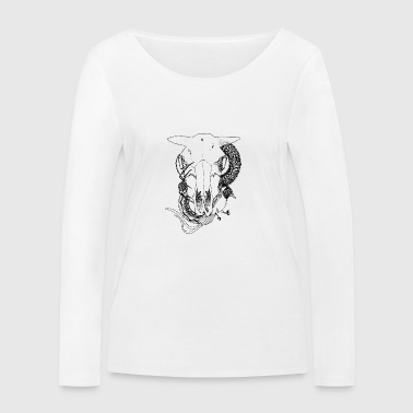 Animal-Skull - Women's Organic Longsleeve Shirt by Stanley & Stella