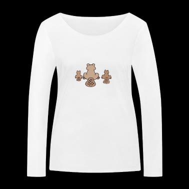 beaver biber rodent rodents wood water13 - Women's Organic Longsleeve Shirt by Stanley & Stella