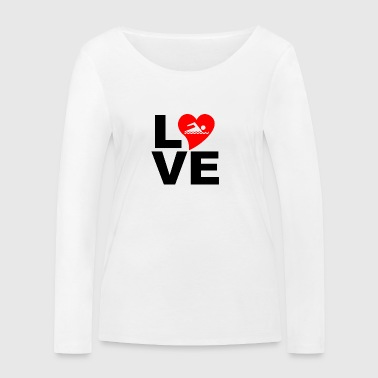 Love swimming - Women's Organic Longsleeve Shirt by Stanley & Stella