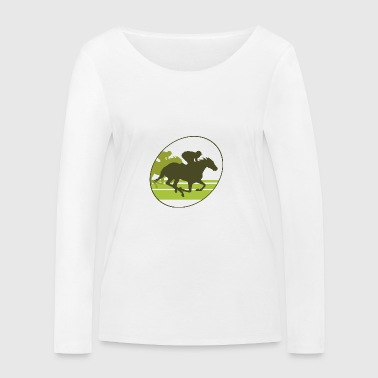Gallop, horse , stallion, mare - Women's Organic Longsleeve Shirt by Stanley & Stella