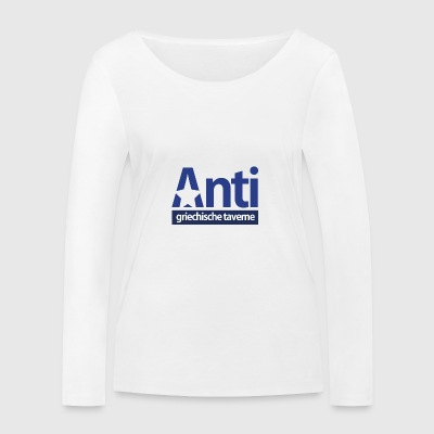 Anti Star Logo Blue version - Frauen Bio-Langarmshirt von Stanley & Stella