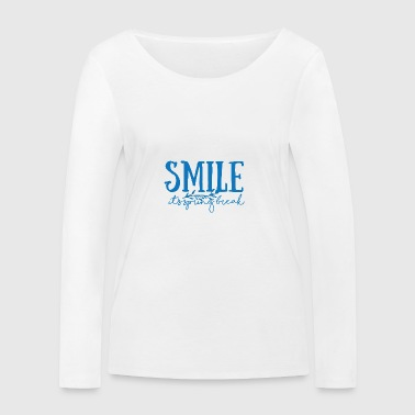 Spring Break / Springbreak: Smile - it's spring - Women's Organic Longsleeve Shirt by Stanley & Stella