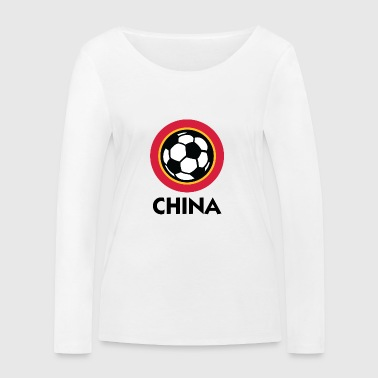 Football Crest of China - T-shirt manches longues bio Stanley & Stella Femme