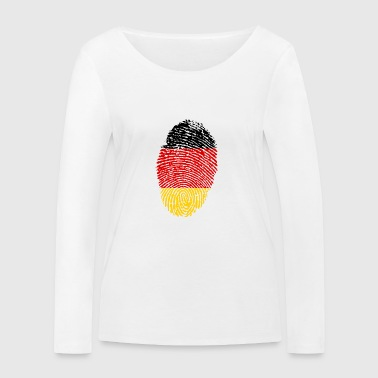 Imprint Germany Imprint with the flag Germany - Women's Organic Longsleeve Shirt by Stanley & Stella