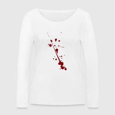 Blood splatter - Women's Organic Longsleeve Shirt by Stanley & Stella