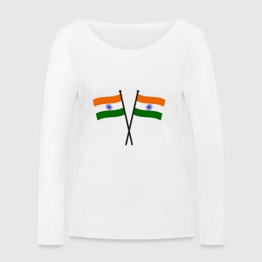 india flag - Women's Organic Longsleeve Shirt by Stanley & Stella