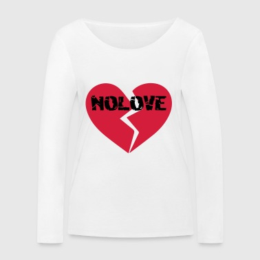 NoLove | No Love Broken Heart - Women's Organic Longsleeve Shirt by Stanley & Stella