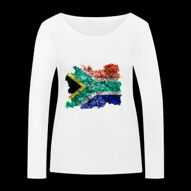 South Africa vintage flag - Women's Organic Longsleeve Shirt by Stanley & Stella