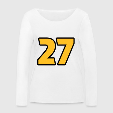 27 Twenty-Seven Magic Number Feng Shui Numeral - Women's Organic Longsleeve Shirt by Stanley & Stella