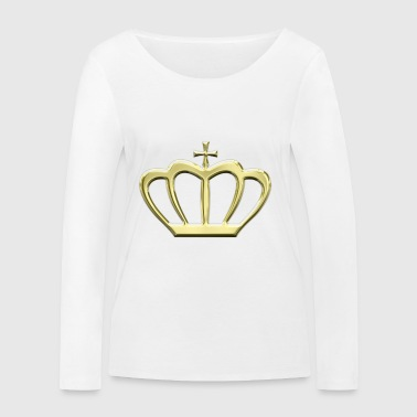 Golden crown king kings gift idea - Women's Organic Longsleeve Shirt by Stanley & Stella