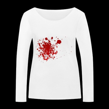 Blood splatter splatter Halloween blood spatter - Women's Organic Longsleeve Shirt by Stanley & Stella